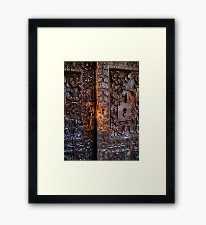 Old Door in La Paz (close-up) Framed Print
