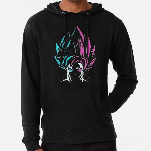 Bleu Goku / Noir Goku Sweat à capuche léger