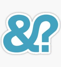 And? &? Ampersand Question Mark - Blue Logo Original Design Sticker