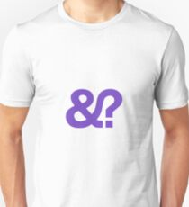 And? &? Ampersand Question Mark - Purple Logo Original Design Slim Fit T-Shirt