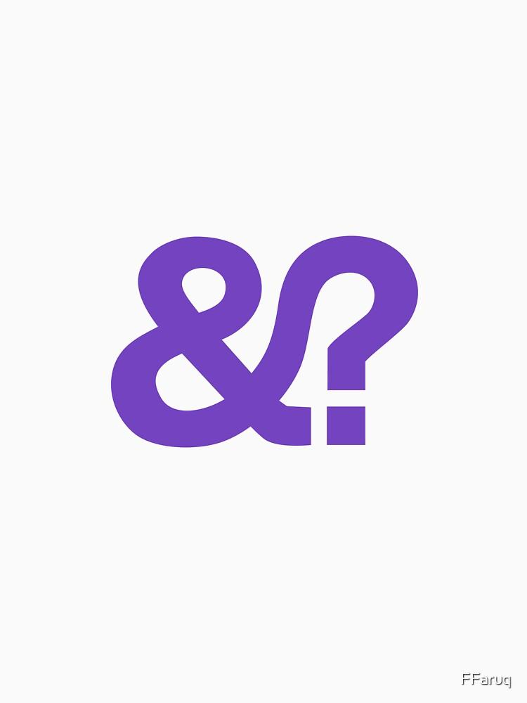 And? &? Ampersand Question Mark - Purple Logo Original Design by FFaruq