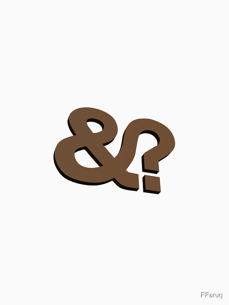 And? &? Ampersand Question Mark - 3D Brown Logo Original Design by FFaruq