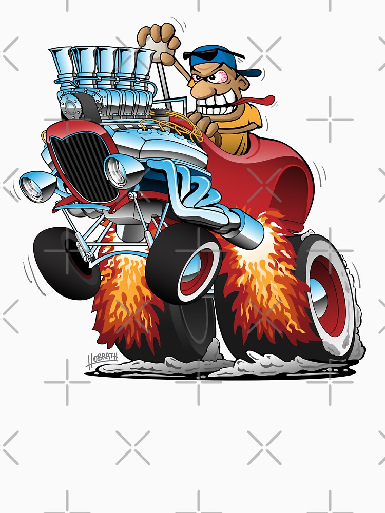 Highboy Hot Rod Race Car Cartoon by hobrath