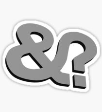 And? &? Ampersand Question Mark - 3D Gray (Grey) Logo Original Design Sticker