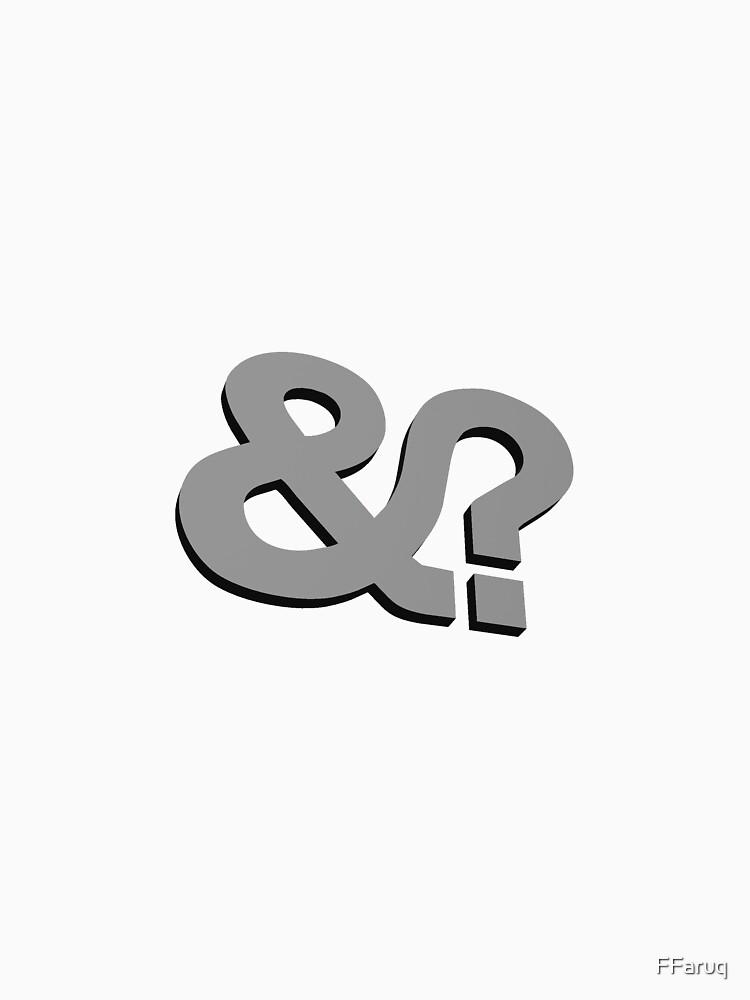 And? &? Ampersand Question Mark - 3D Gray (Grey) Logo Original Design by FFaruq