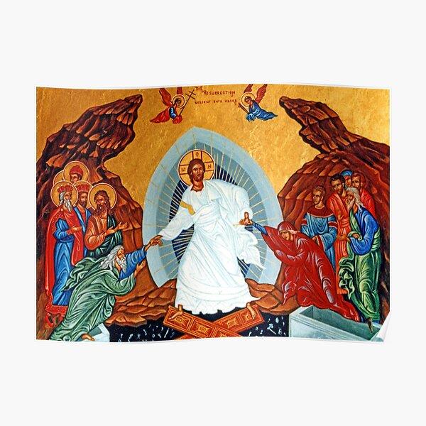 Jesus Christ Byzantine Resurrection Poster