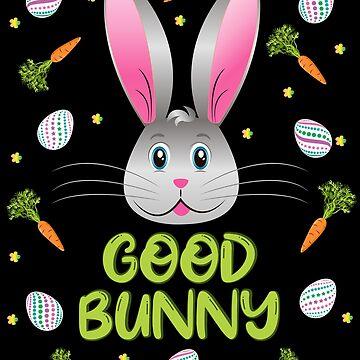 Happy Easter Bunny Good Rabbit Egg Hunt Funny Bunny Face by ZNOVANNA