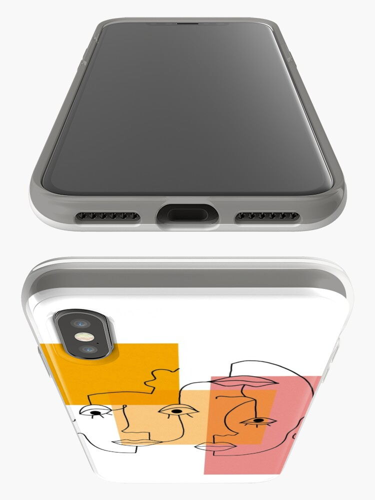 Alternate view of COLOR BLOCK LINE FACES iPhone Case & Cover