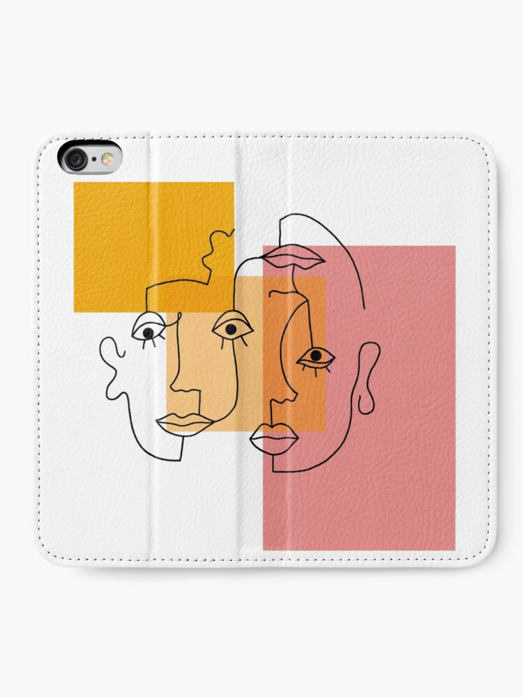Alternate view of COLOR BLOCK LINE FACES iPhone Wallet