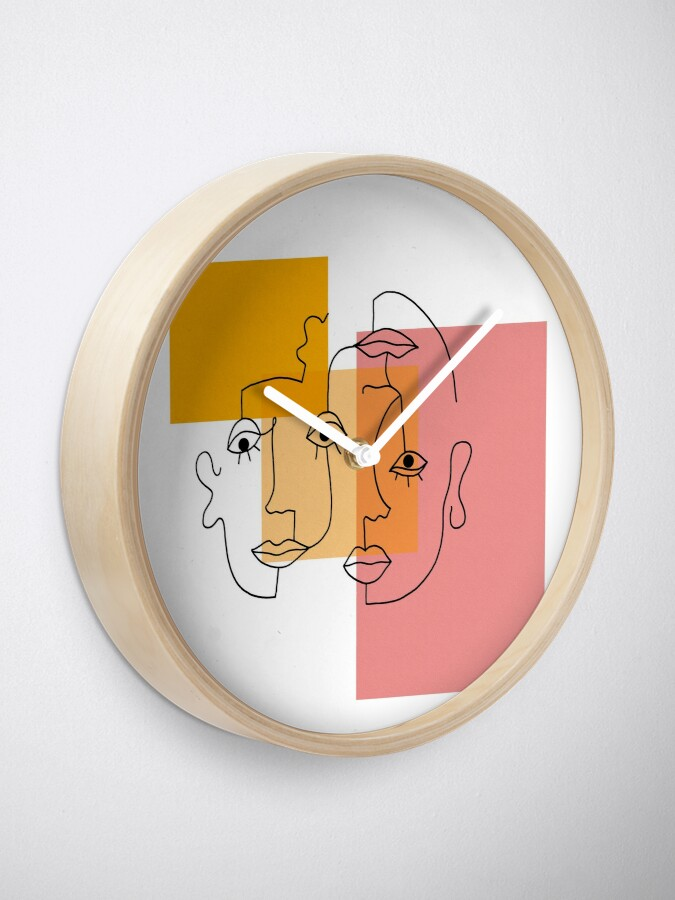 Alternate view of COLOR BLOCK LINE FACES Clock