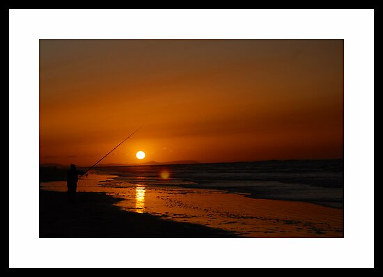 Night Fishing in Whiterocks -Portrush by Ferdinand Lucino