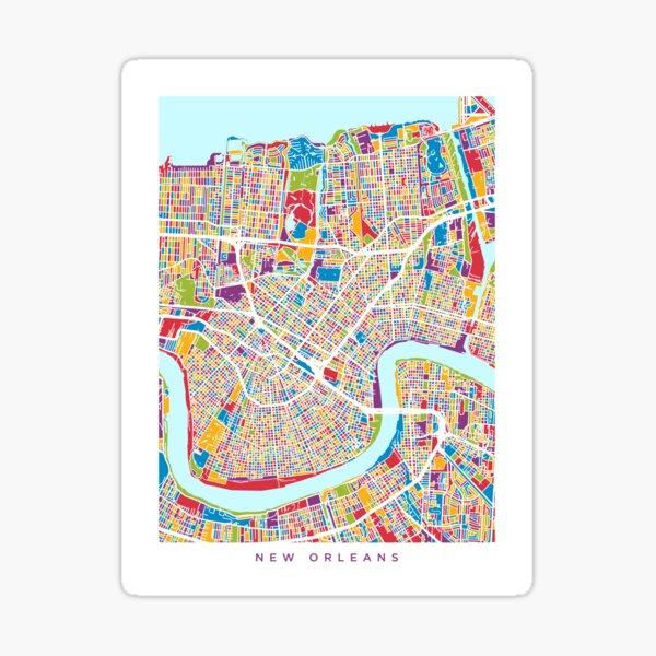 New Orleans Street Map Sticker