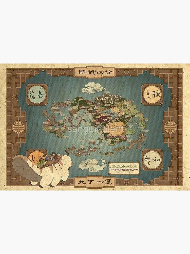Avatar the Last Airbender Map by sanguinolent