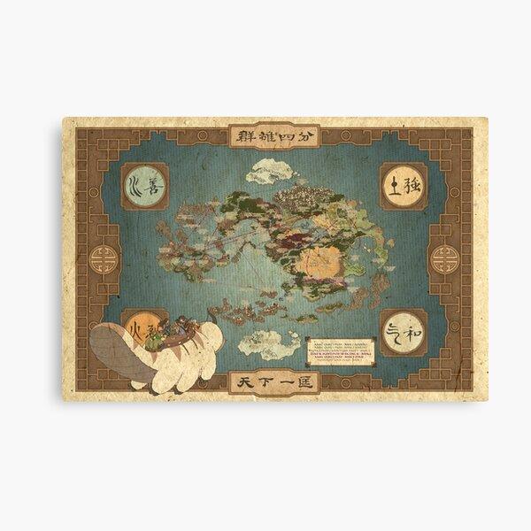 Avatar the Last Airbender Map Canvas Print