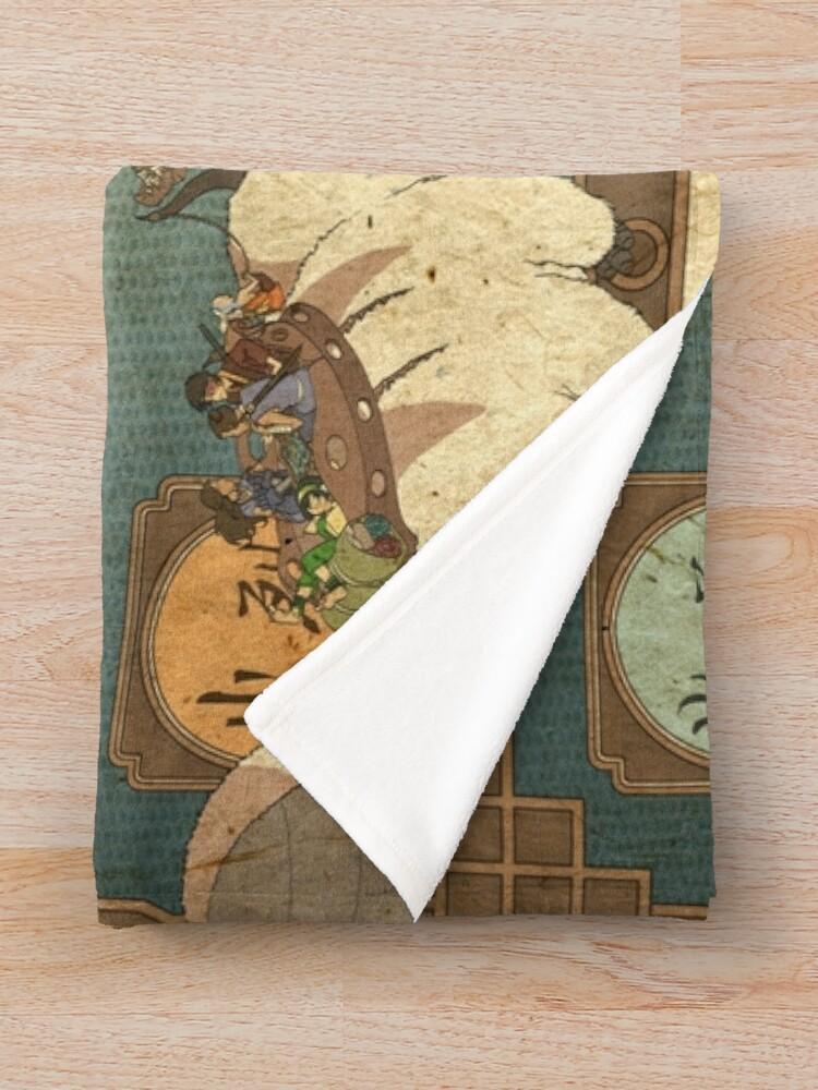 Alternate view of Avatar the Last Airbender Map Throw Blanket