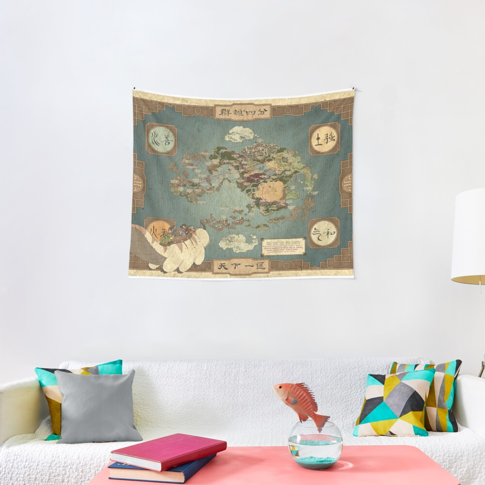 Avatar the Last Airbender Map Tapestry