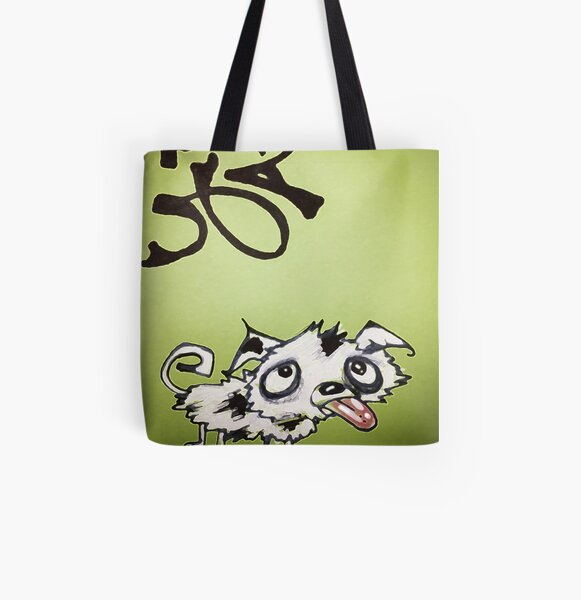 Emerald Ink Puppy All Over Print Tote Bag