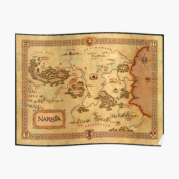 Map of Narnia Poster