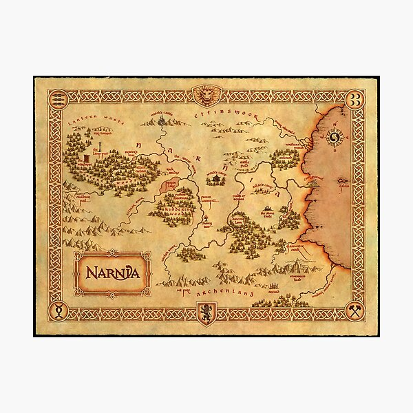 Map of Narnia Photographic Print