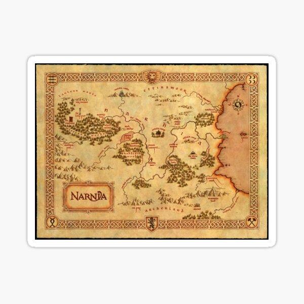 Mapa de Narnia Pegatina