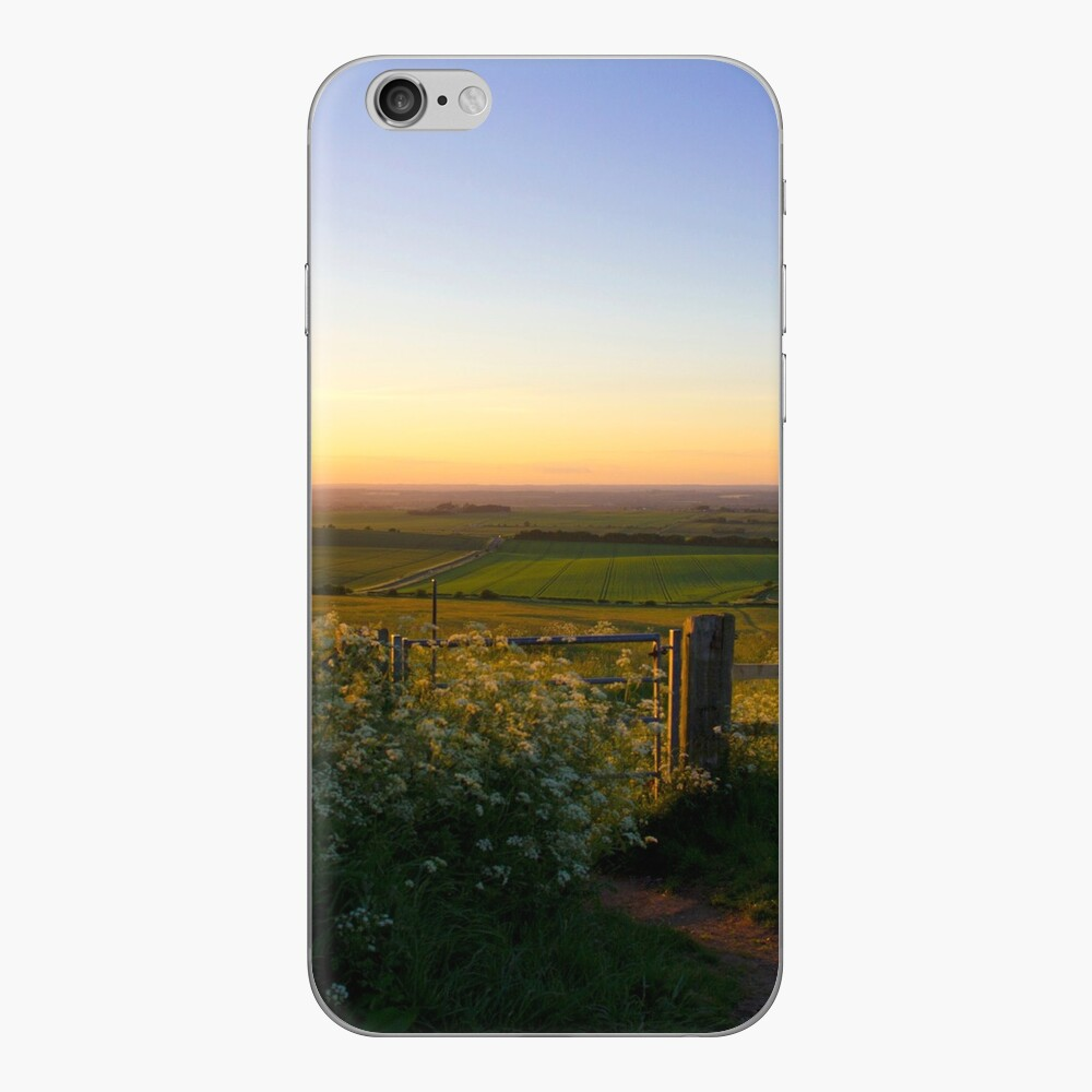 Oxfordshire at sunset from the Downs iPhone Skin