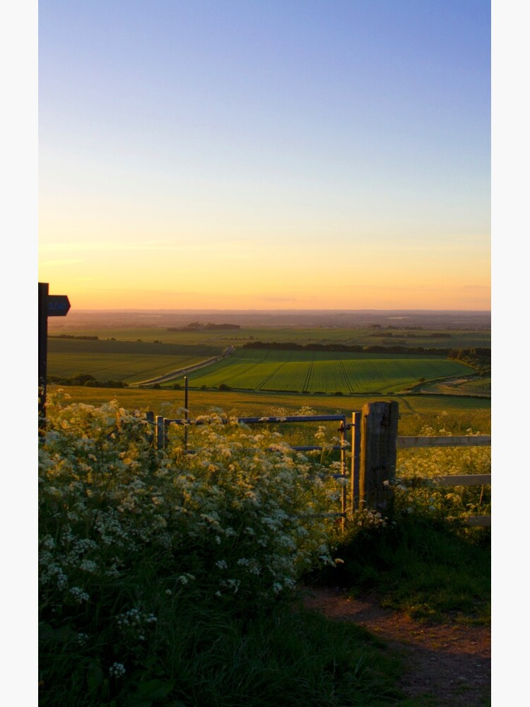 Oxfordshire at sunset from the Downs by MigBardsley