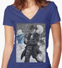The Second Doctor Women's Fitted V-Neck T-Shirt