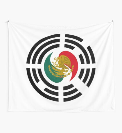 Korean Mexican Multinational Patriot Flag Series Wall Tapestry