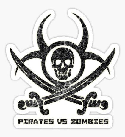 Pirates vs Zombies : Logo (dark) with text Sticker