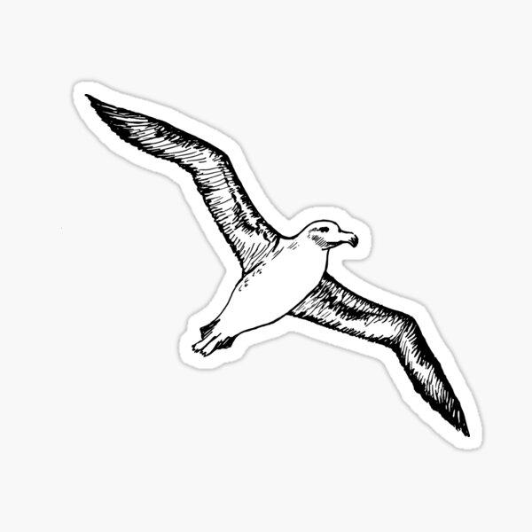 Fliegende Albatros Sticker