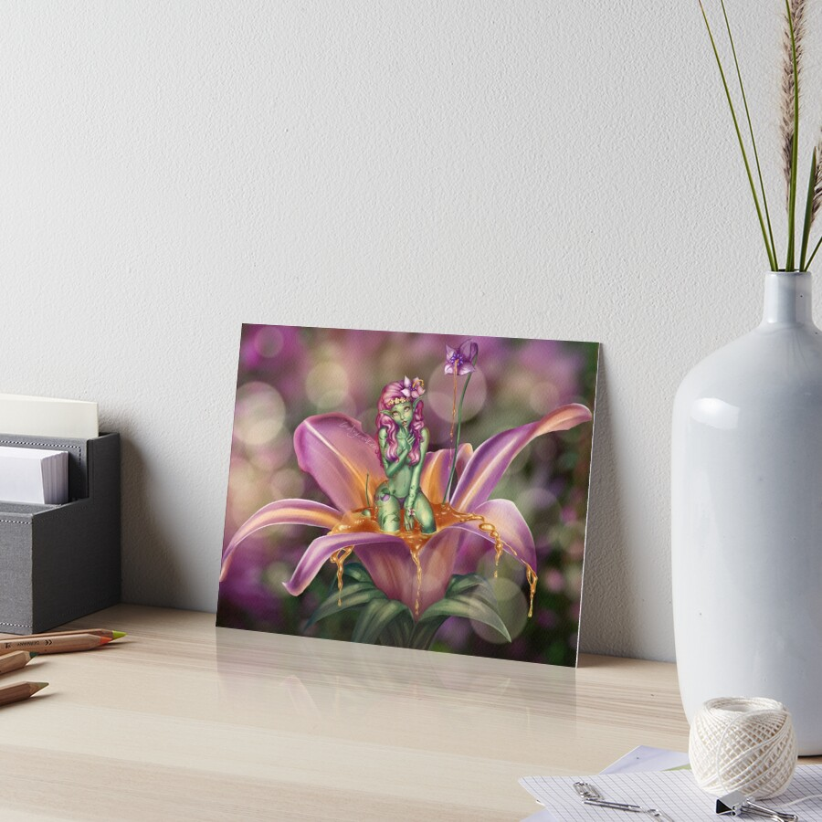 Driade Flower Nymph Art Board Print