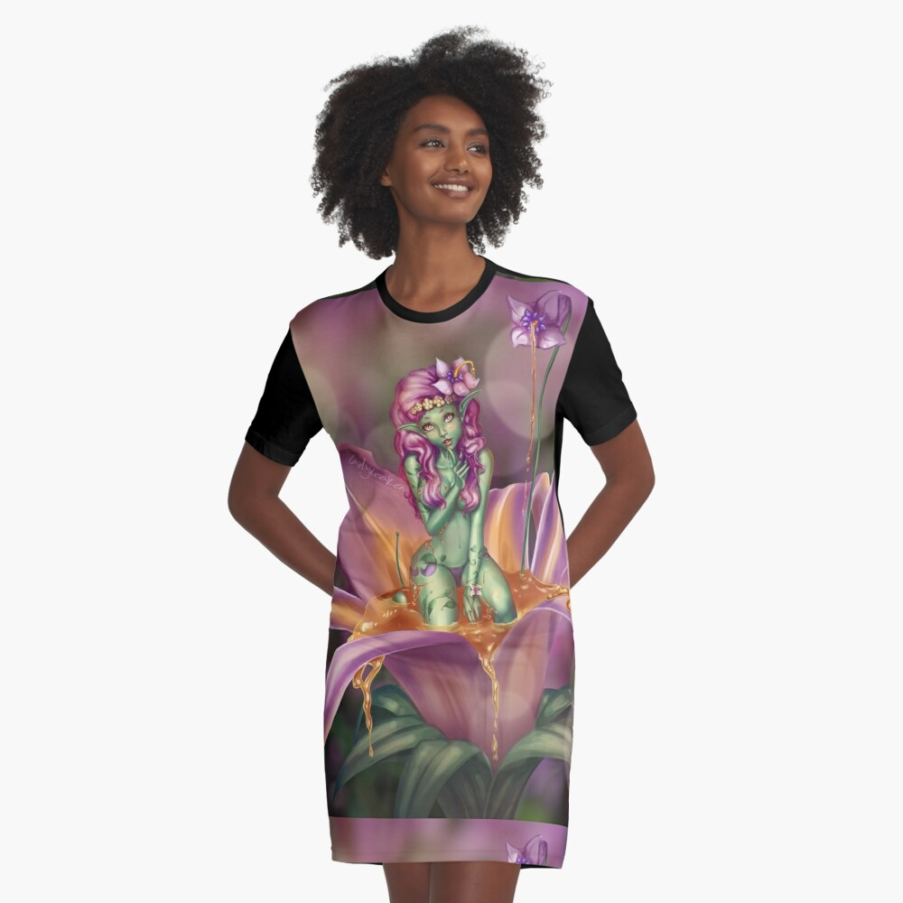 Driade Flower Nymph Graphic T-Shirt Dress