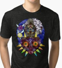 Majora's Mask Stained Glass Tri-blend T-Shirt
