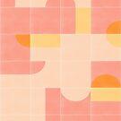Retro Tiles 02 #redbubble #pattern by designdn