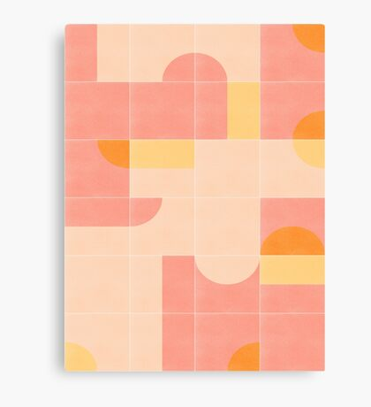 Retro Tiles 02 #redbubble #pattern Canvas Print