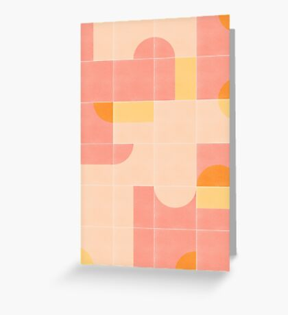 Retro Tiles 02 #redbubble #pattern Greeting Card