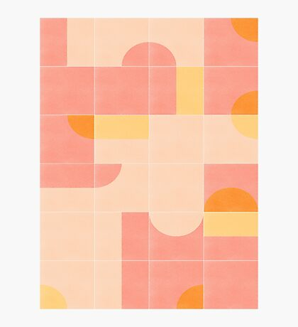 Retro Tiles 02 #redbubble #pattern Photographic Print