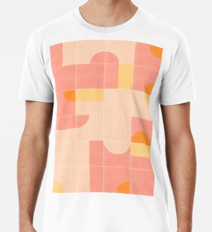 Retro Tiles 02 #redbubble #pattern Premium T-Shirt