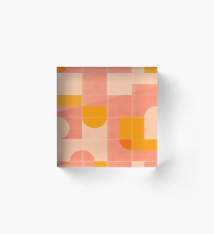 Retro Tiles 03 #redbubble #pattern Acrylic Block