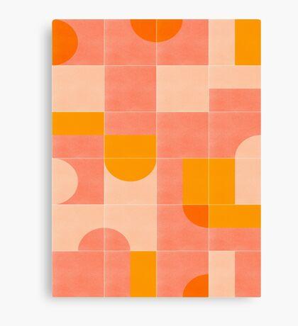 Retro Tiles 03 #redbubble #pattern Canvas Print