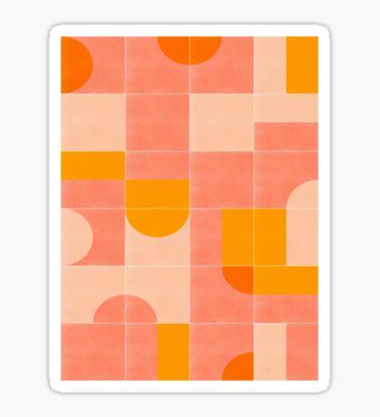Retro Tiles 03 #redbubble #pattern Glossy Sticker