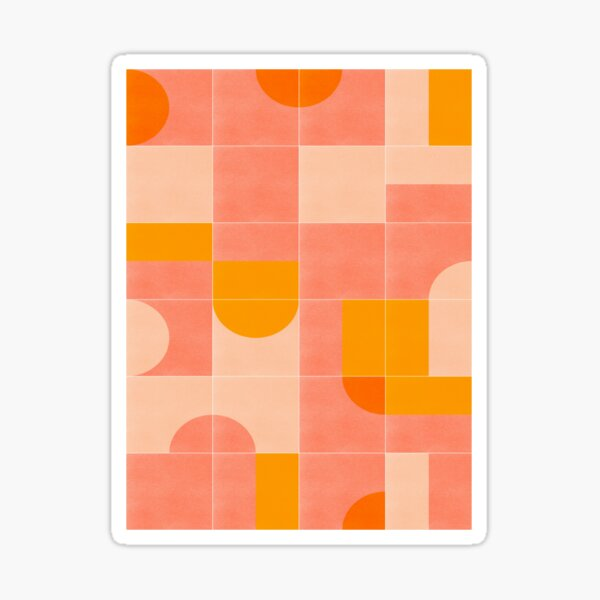 Retro Tiles 03 #redbubble #pattern Sticker