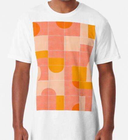 Retro Tiles 03 #redbubble #pattern Long T-Shirt