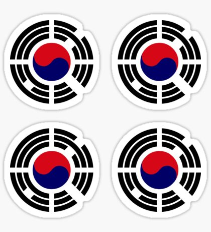 Korean Patriot Flag Series  Glossy Sticker