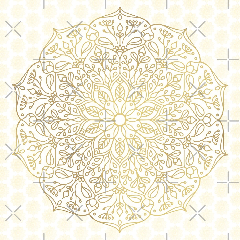 Gold Mandala by Kelly Dietrich