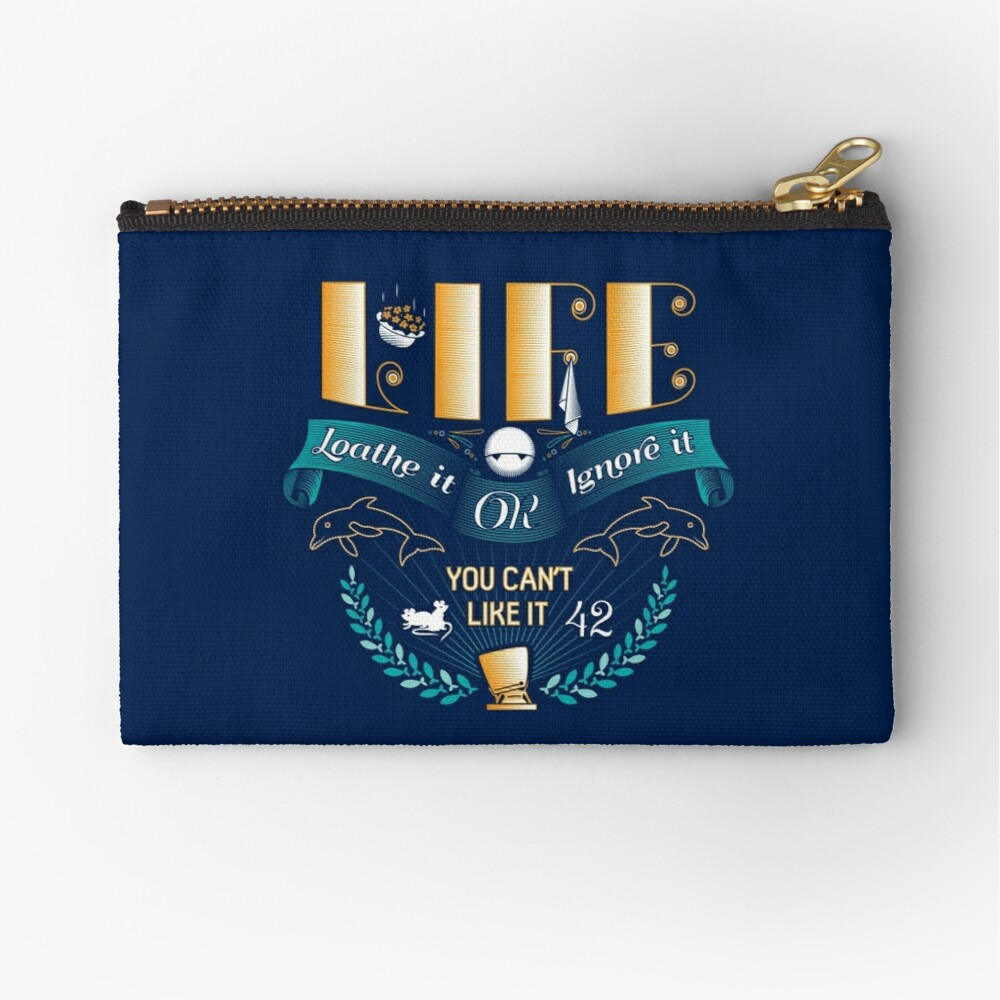 Marvin On Life Zipper Pouch