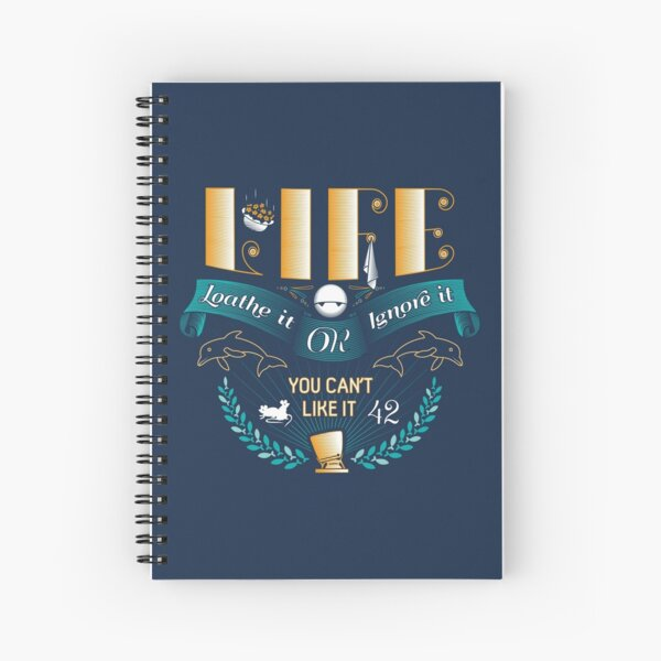Marvin On Life Spiral Notebook