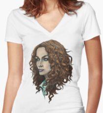 Myka Women's Fitted V-Neck T-Shirt