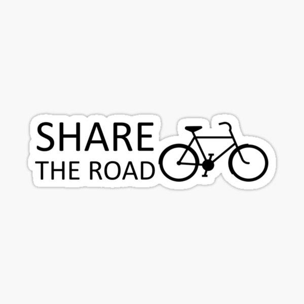 Share the Road Black Sticker