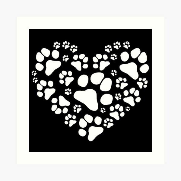 Paws in Heart Impression artistique